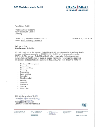 Image from Letter QM confirmation