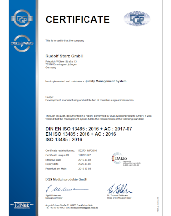 Image from DIN EN ISO 13485_2016 Certificate English